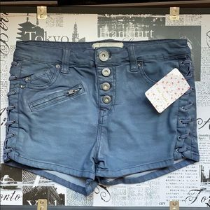 Free People Leather Coated Shorts